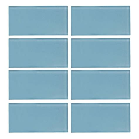 glass tiles jeffrey court caribbean water gloss 3 in x 6 in x 8 mm