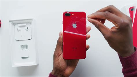 video mkbhd unboxes  hands   red iphone
