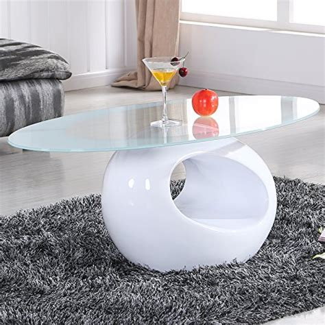 japanese living room glass coffee table featuring white sofa uenjoy white glass oval coffee table contemporary modern