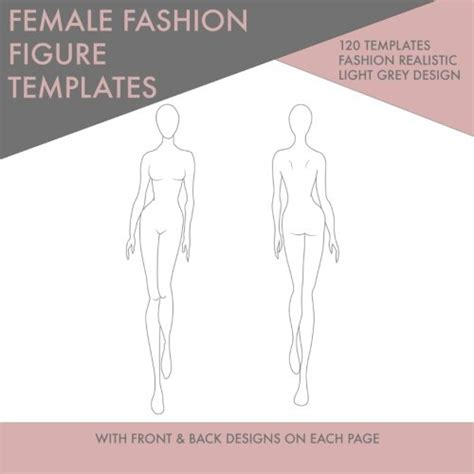 fashion templates front and back the gallery for gt fashion figure templates front