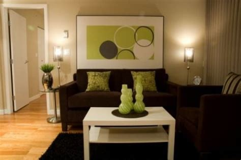 brown and lime green living room wall ideas brown