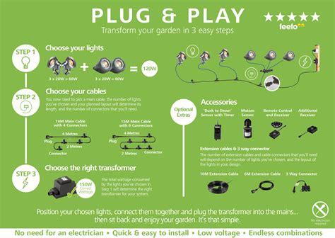 lights that play techmar and play linum led garden light kit 8