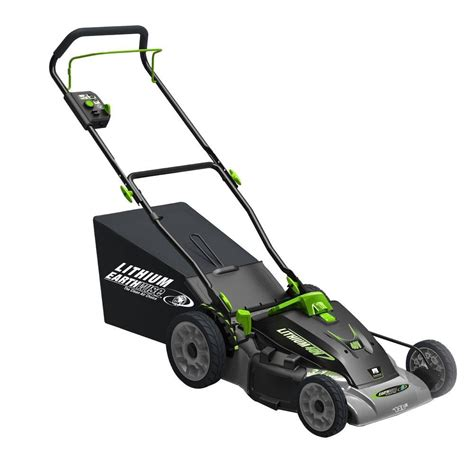 Lawn Mower In Home Depot by Earthwise 18 In 3 In 1 40 Volt Lithium Ion Walk