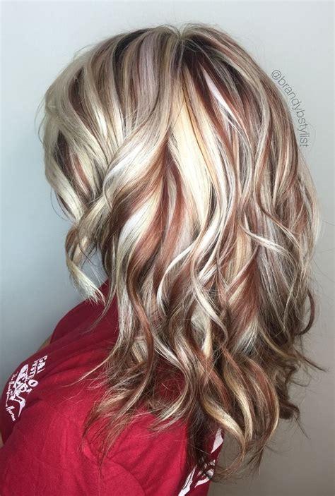 chocolate red hair on pinterest red blonde highlights red and blonde highlights with brown hair 17 best ideas