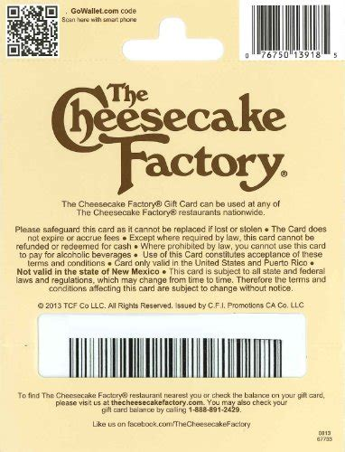 Where Can I Buy A Cheesecake Factory Gift Card - the cheesecake factory gift card 50 plastic gift certificate in the uae see prices
