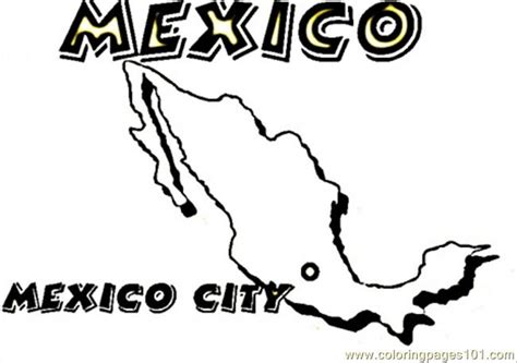mexico map coloring pages coloring pages map of mexico countries gt mexico free printable coloring page online