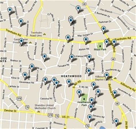 downtown columbia sc map heathwood homes for sale