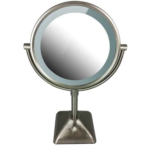 lighted makeup mirror with magnification conair illuminations sided lighted makeup mirror