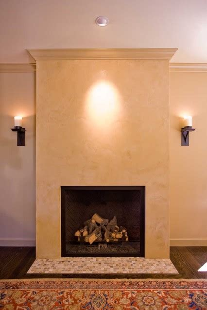 Plaster Fireplaces by Living Room With Venetial Plaster Fireplace