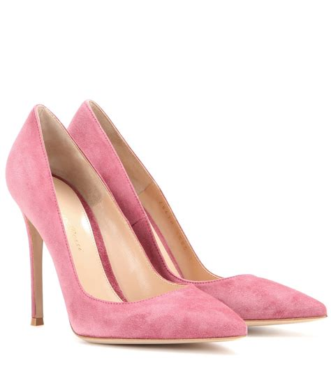 gianvito suede pumps in pink lyst