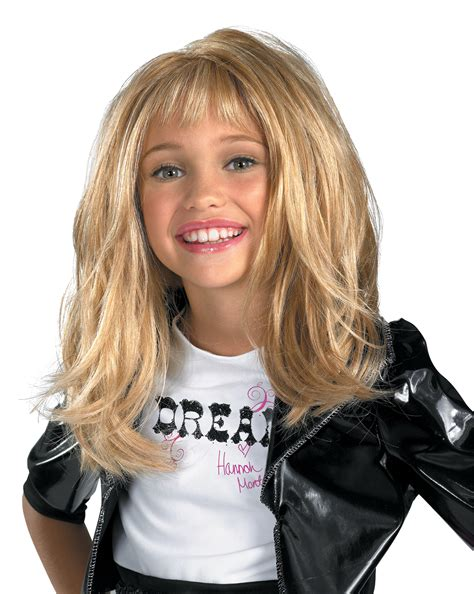 hannah montana deluxe child wig   costume costume
