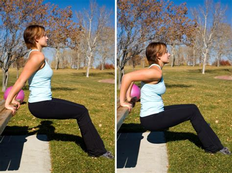 park bench exercises park bench strength training exercises popsugar fitness