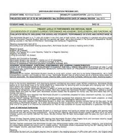 Parent Letter Caaspp Sle Iep Report Form