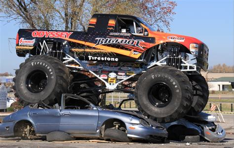 bigfoot electric monster electric monster truck crushes puny gasoline cars this weekend
