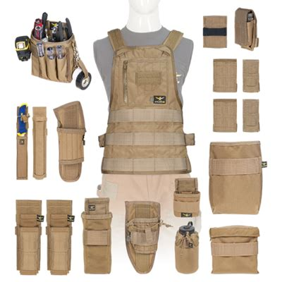 yorktown quick detach tool roll tool vests  belts