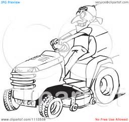 Riding Lawn Mower Colouring Pages sketch template