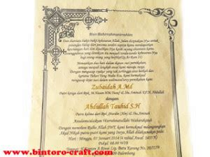 membuat undangan tinta emas undangan bambu gulung