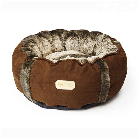 faux fur dog bed round faux fur and suede pet bed by doggielicious
