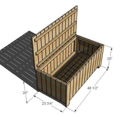 waterproof storage bench plans diy waterproof outdoor storage bench furnitureplans