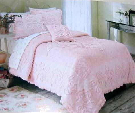 rachel ashwell white roses chenille comforter ruffles pillow sham sha