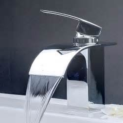bathroom sink with faucet contemporary waterfall bathroom sink faucet 8061