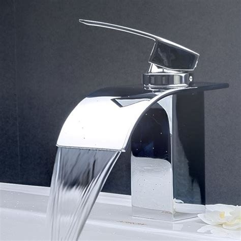 Modern Faucets For Bathroom Contemporary Waterfall Bathroom Sink Faucet 8061 Contemporary Bathroom Sink Faucets By