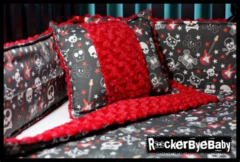 rockstar crib bedding items similar to rock custom 4 baby crib