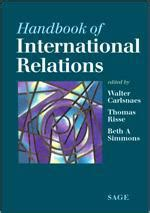 reference books relations reference handbook of international relations