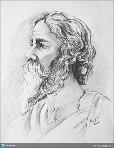 Rabindranath Tagore Pencil Sketch Wallpaper Rabindranath Tagore Pencil Sketch Hd Wallpaper Images For Drawing