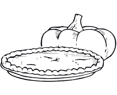 pumpkin pie coloring page sketch coloring page