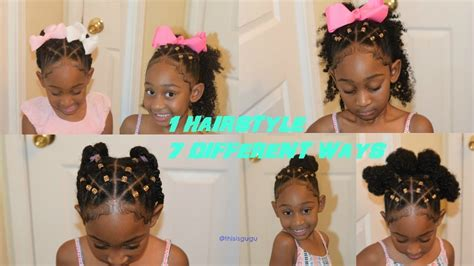 cute natural styles with colorful rubberbands cute easy quick and easy kids girls natural hairstyles 7 hairstyles