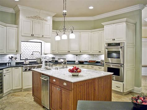 Kitchen Island Stainless kitchen color schemes with white cabinets kitchen and decor