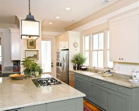 two colored kitchen cabinets can you paint kitchen cabinets two colors in a small