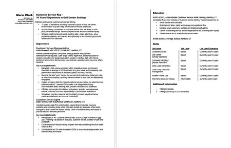 Customer Service Rep Resume by Customer Service Representative Resume Sle