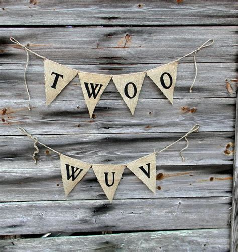 Wedding Banner Quotes by Wedding Quotes Burlap Bunting Banner Quot Twoo Wuv
