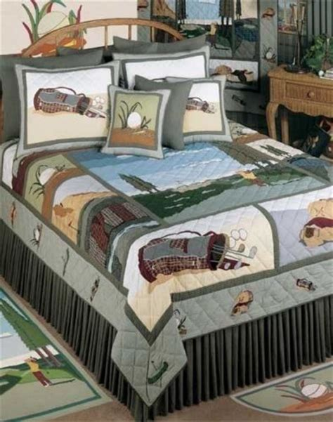 golf bedding the golf theme quilt bedding set is truly a design that makes golf lovers feel at home