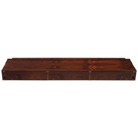 modern wall mounted console table modern rosewood wall mounted console by arne hovmand