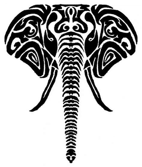elephant tattoo clipart drawn elephant tribal pencil and in color drawn elephant