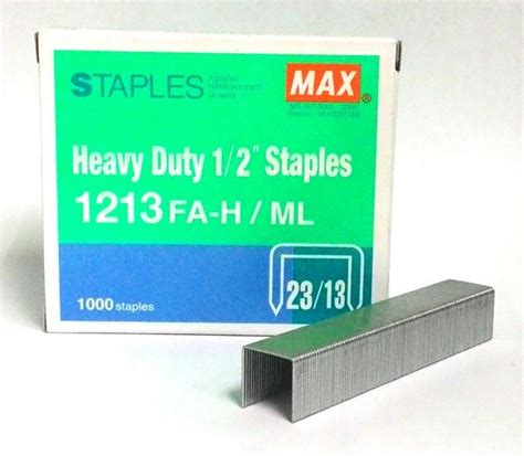 Isi Staples Max 1213 max heavy duty 1 2 quot staples 1 end 1 30 2017 6 34 pm myt
