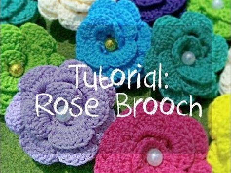 Tutorial Merajut Bunga Untuk Pemula | crochet tutorial merajut untuk pemula membuat bros