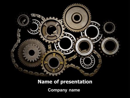 powerpoint templates for mechanical engineering presentation mechanical wheels powerpoint template backgrounds 07034