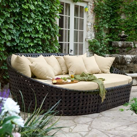 all weather wicker sectional outdoor furniture patio sets shop at hayneedle com