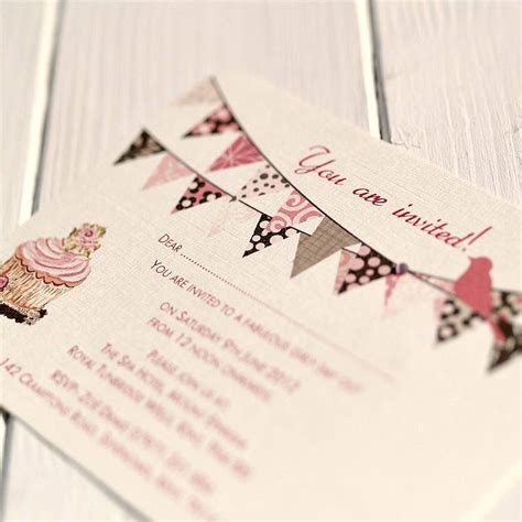 bunting wedding invitations bunting and cupcake wedding invitations by beautiful day