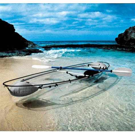 clear kayak the transparent canoe kayak hammacher schlemmer