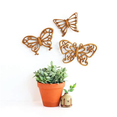 vintage home interior products vintage butterflies wall decor by homco wise apple vintage