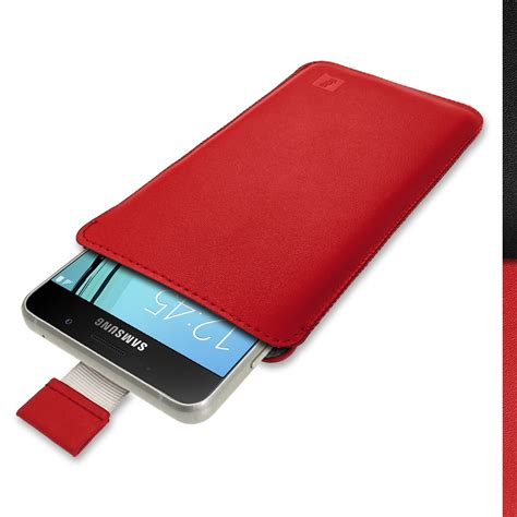 Samsung A5 2015 One Smile Custom igadgitz leather pouch sleeve cover for samsung