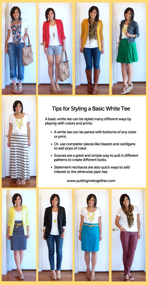 Style Tips by Putting Me Together Styling A Basic White