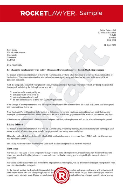 furlough letter employees uk