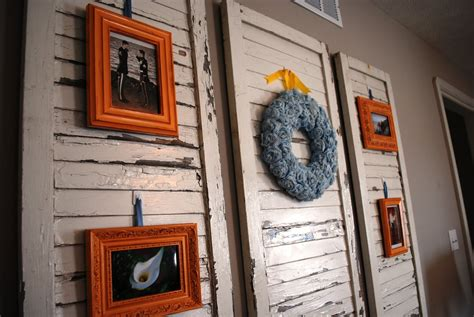 Shutter Wall Decor design in progress new uses for shutters