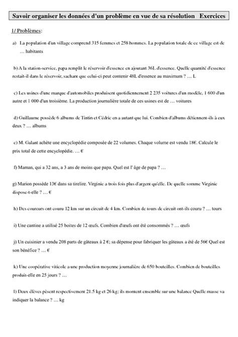 Mathématiques- Exercices gestion des données cm1-cm2